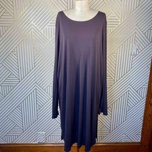 Marina Rinaldi Eggplant Purple Long Sleeve Dress